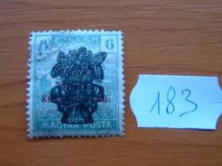 6 FILLÉR 1920 Búzakalász felülnyomat a Magyar Tanácsköztársaság Magyar Posta Arató 183#