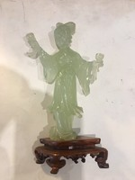 Jade szobor, 15 cm, századeleji , gyönyörű munka.