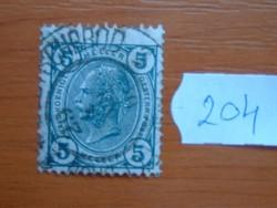 AUSZTRIA OSZTRÁK 5 HELLER 1901-  I. Ferenc József császár, 1830–1916 204#