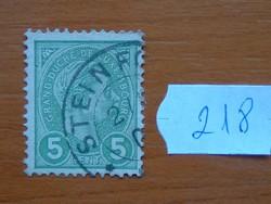 LUXEMBURG 5 C 1895  Luxemburg, Adolf nagyherceg 218#