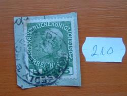 AUSZTRIA OSZTRÁK 5 HELLER 1908, Franz Josef császár uralkodásának 60. évfordulója, I. 210#