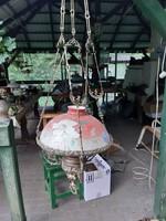 Nagyon régi  luszter lámpa, függő petróleum csillár antik