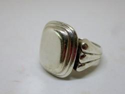 Szépséges antik ezüst pecsétgyűrű gravírozható 9.5g