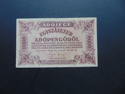 100000 adópengő 1946 Sorszám nélküli  02