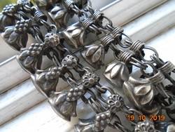 Kézzel készült nyakék antikolt fém dupla virág láncsor