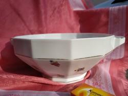 Porcelán pogácsás kínáló szögletes tál