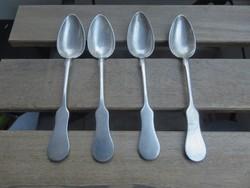4db ezüst kiskanál, Diana fejes fémjellel