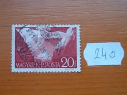 20 FILLÉR 1941 Széchenyi István születésének 150. évfordulója, 1791-1860 240#