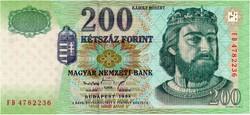 200 Forint 1998 FD - aUNC - hajtatlan