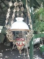 Majolika luszter lámpa petróleumlámpa
