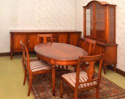 10 darabos Warrings XVI.Lajos stilusú cseresznyefa komplett nappalibütor