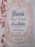Flotow: Márta + 1965-ös felújítás műsorfüzete