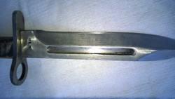 Militária -USA bajonett-tőr-kés- penge-pótolt nyél m 33 cm