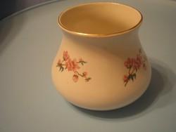 U11 Antik rózsás hasas  jelzett Magyar váza