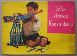 DER KLEINE KONSTRUKTEUR - A KIS MÉRNÖK, KONSTRUKTŐR, régi, retro NDK, DDR csavaros szerelő játék