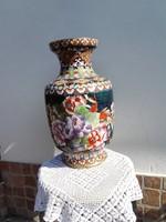 Sárgaréz ,tűzzománc /40cm/óriás váza...dúsan díszített.