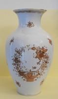 Indiai kosaras Herendi porcelán váza. Jelzett, hibátlan, eredeti!