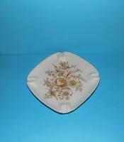 Hollóházi porcelán hamutál 17*17 cm (11/d)