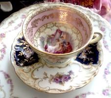Antik Dresden kávés csésze és alj