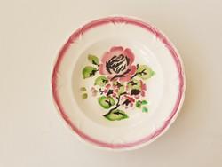 Régi KP Gránit falitányér rózsás falidísz népi tányér