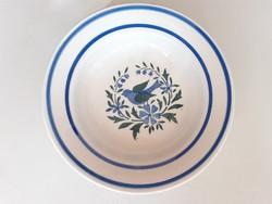 Régi népi dísztányér madaras falitányér Wilhelmsburg tányér