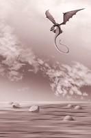 Moira Risen:Hét tengeren hajózva - A tenger sárkányai - Az első. Kortárs, szignált fine art nyomat