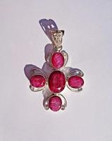 5 rubin köves nagyobb medál, fémjelzett