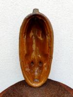 Antik népi kerámia újévi malac sütőforma régi mázascserép sütőtál