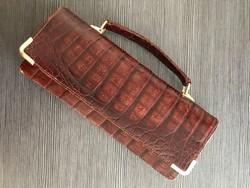 Antik krokodilbőr táska, szép állapotban
