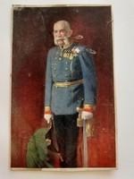 Régi képeslap I. Ferenc József császár fotója levelezőlap