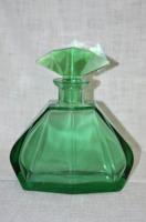 Szép színvilágú régi csiszolt bieder likőrös üveg  ( DBZ 0053 )