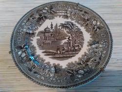 Antik Angol porcelán tányér