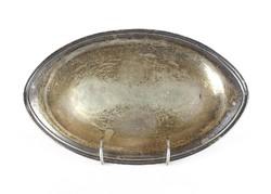 0Y352 Antik ezüstözött kínáló tálca