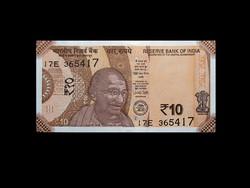 UNC - 10 RUPIA - INDIA - 2017 (Az új pénz!)
