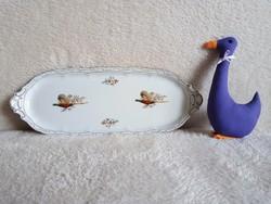 19139A Zsolnay porcelán fácános tálca