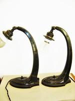 2 db. antik éjjeli lámpa / íróasztal lámpa / falikar