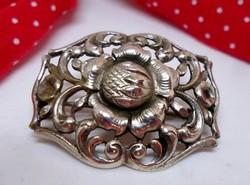 Csodás antik ezüst bross