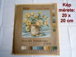 Nagyon szép hímzésre váró gobelin kép 20 x 20 cm