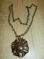 Iparművészeti fém nyaklánc+medál