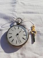 1,-Ft Antik kulcsos ezüst zsebóra!