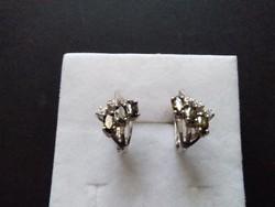 Peridot cirkón köves ezüst fülbevaló