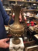 Gyönyörű bronz váza, márványtalpon, 47 cm-es.ajándéknak