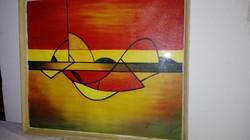 Látványos absztrakt festmény