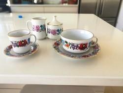 Hollohazi kalocsai mintas 12 szemelyes kaves es 12 szemelyes  teas keszlet