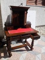 Íróasztal felépítményes ónémet,reneszánsz ,eklektikus styl. dekoratív