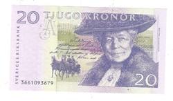 20 kronor korona 2003-2005 Svédország UNC