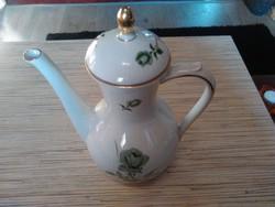Antik rózsás Német porcelán tea kiöntő