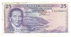 25 kronur 1961 Izland