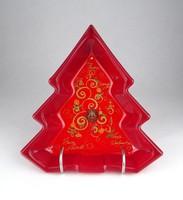0Y408 Waltherglas üveg karácsonyfa tálka
