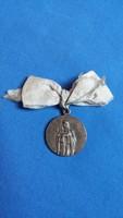 Szűz Szt. Margit - Patrona Hungariae, régi, fém medál